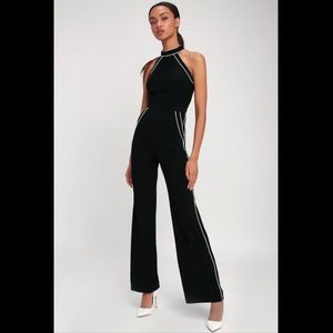 NWOT Lulu's Black and white jumpsuit size XS